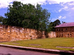 The Parramatta Female Factory's 1818 wall. Photo: Michaela Ann Cameron