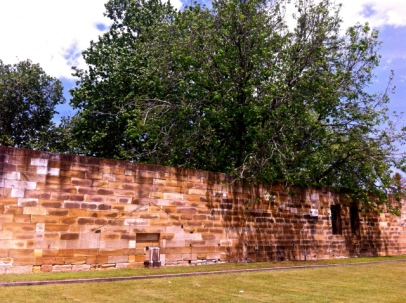 The original 1818 wall at the Parramatta Female Factory. Photo: Michaela Ann Cameron (2013)