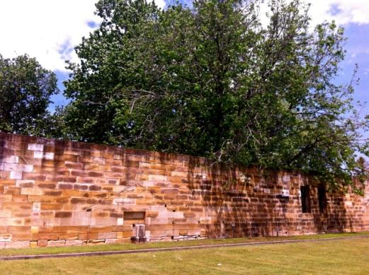 The original 1818 wall at the Parramatta Female Factory. Photo: Michaela Ann Cameron (2013)