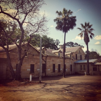 The lying-in hospital, Parramatta Female Factory, viewed from where the original main barrack building of the factory once stood. Photo: Michaela Ann Cameron (2014)