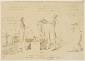 """Parramatta Female Factory, c1844, Edward Winstanley, """"Ways and Means or the Last Shift."""" Convict women. Laundry."""