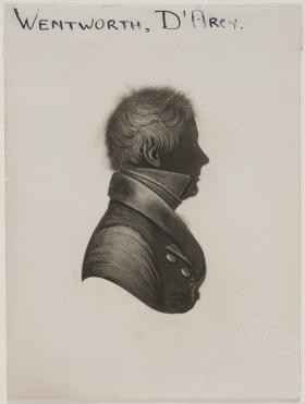 Surgeon D'Arcy Wentworth. Silhouette. Parramatta. Old Parramatta. Old Parramattan. Superintendent of Police. Magistrate. Superintendent of Convicts. Surgeon. Second Fleet.
