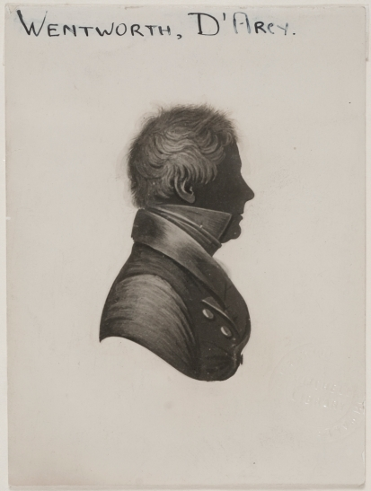 Surgeon D'Arcy Wentworth. Silhouette. Parramatta. Old Parramatta. Old Parramattan. Superintendent of Police. Magistrate. Superintendent of Convicts. Surgeon. Second Fleet.