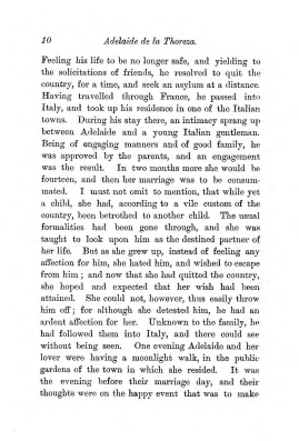 """Chapter I: Early Days,"" James Cameron's biography on Parramatta Female Factory convict Adelaide de la Thoreza, p. 10"