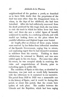 """Chapter I: Early Days,"" James Cameron's biography on Parramatta Female Factory convict Adelaide de la Thoreza, p. 12"
