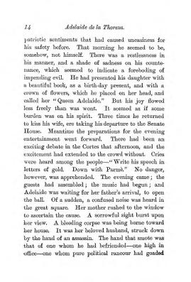 """Chapter I: Early Days,"" James Cameron's biography on Parramatta Female Factory convict Adelaide de la Thoreza, p. 14"