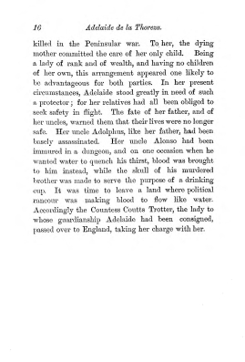 """Chapter I: Early Days,"" James Cameron's biography on Parramatta Female Factory convict Adelaide de la Thoreza, p. 16"
