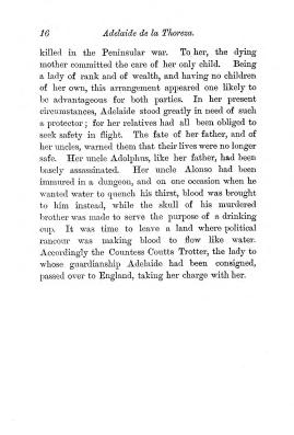 """Chapter I: Early Days,"" James Cameron's biography on Parramatta Female Factory convict Adelaide de la Thoreza, p. 16"