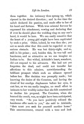 """Chapter II: Life in London,"" James Cameron's biography on Parramatta Female Factory convict Adelaide de la Thoreza, p. 19"