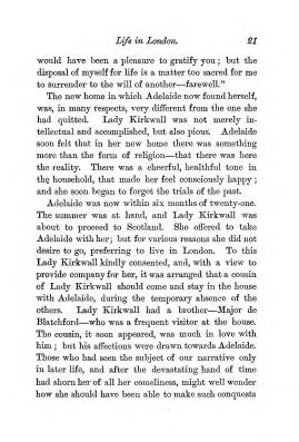 """Chapter II: Life in London,"" James Cameron's biography on Parramatta Female Factory convict Adelaide de la Thoreza, p. 21"