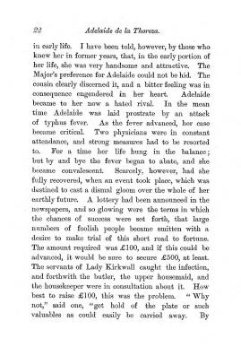 """Chapter II: Life in London,"" James Cameron's biography on Parramatta Female Factory convict Adelaide de la Thoreza, p. 22"