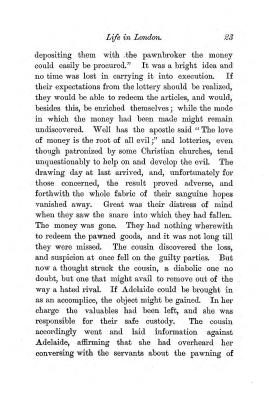 """Chapter II: Life in London,"" James Cameron's biography on Parramatta Female Factory convict Adelaide de la Thoreza, p. 23"