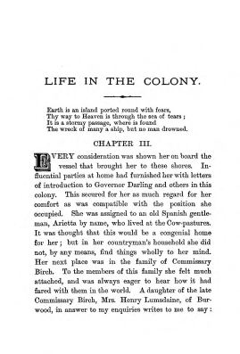 """Chapter III: Life in the Colony,"" James Cameron's biography on Parramatta Female Factory convict Adelaide de la Thoreza, p. 25"