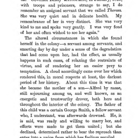 """Chapter III: Life in the Colony,"" James Cameron's biography on Parramatta Female Factory convict Adelaide de la Thoreza, p. 26"