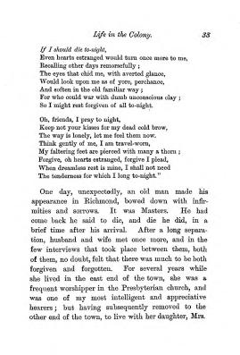 """Chapter III: Life in the Colony,"" James Cameron's biography on Parramatta Female Factory convict Adelaide de la Thoreza, p. 33"