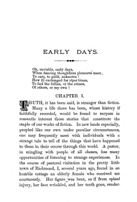 """Chapter I: Early Days,"" James Cameron's biography on Parramatta Female Factory convict Adelaide de la Thoreza, p. 3"