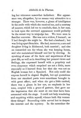 """Chapter I: Early Days,"" of James Cameron's biography on Parramatta Female Factory inmate Adelaide de la Thoreza, p. 4"