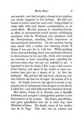 """Chapter I: Early Days,"" James Cameron's biography on Parramatta Female Factory convict Adelaide de la Thoreza, p. 5"