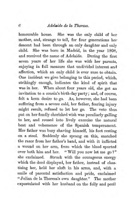"""Chapter I: Early Days,"" James Cameron's biography on Parramatta Female Factory convict Adelaide de la Thoreza, p. 6"
