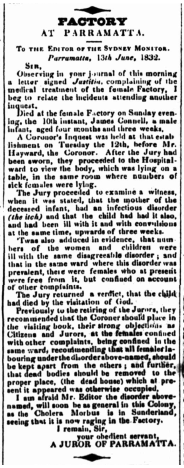 A Juror of Parramatta, To the Editor, Sydney Monitor, 16 June 1832, p. 2