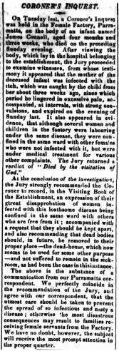 Coroner's Inquest, JAMES CONNELL, Sydney Gazette, 16 June 1832, p. 2