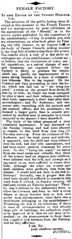 To the Editor, Sydney Monitor, 20 June 1832, p. 2