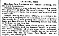 Law Report of JANE KNIGHT, Parramatta Female Factory, convict woman, Female Factory Online, newspaper, crime history, Australian History