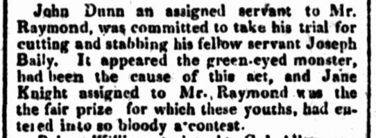 JANE KNIGHT, convict, Female Factory, Parramatta Female Factory, 19th century newspaper, Police Incident, Police Report