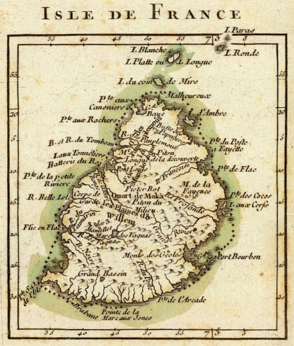 Isle de France map, Mauritius, Female Factory Online, Parramatta Female Factory, St. John's Cemetery Project, Parramatta, Old Parramattan, Josephine Mercelin, Josephine Ally