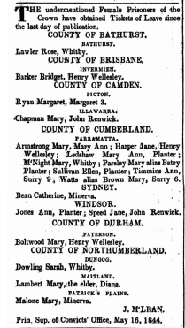 """""""No title,"""" New South Wales Government Gazette (Sydney, NSW : 1832 - 1900), Tuesday 21 May 1844, [Issue No. 47], p. 711."""