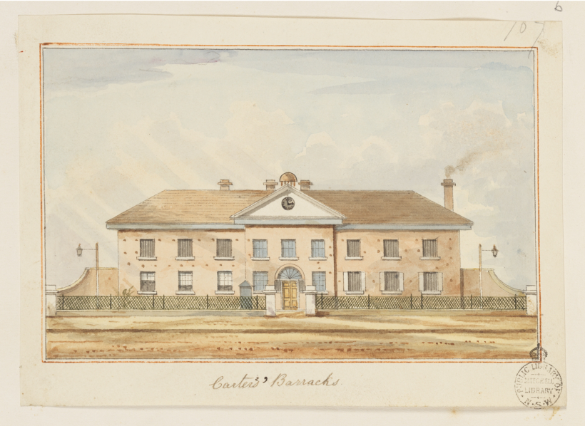Carters' Barracks, Pitt Street, Sydney, New South Wales, Boys' Barracks, Debtors' Prison, Central Station site, St. John's Cemetery Project, St. John's Cemetery, Parramatta, Old Parramattans, Thomas Bell, Sarah Bell, Parramatta Female Factory