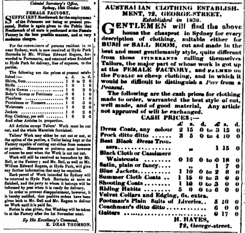 Female Factory, Parramatta, Female Factory Online, nineteenth century, Convicts, Convict women, Old Parramattans