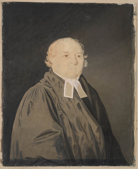 Portrait of Reverend Samuel Marsden, 1833. Watercolour, possibly by Richard Read Junior. ML 29 / FL1119855. Mitchell Library, State Library of New South Wales.