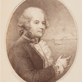 "Portrait of William Bligh, Fourth Governor of New South Wales. ""Capt Bligh,"" painted by J. Russell, engraved by J. Conde, in Sydney, Newcastle and Wollongong Views with Portraits and Manuscript Extracts, (1770–1886), DL PXX 71 / FL13383215, Dixson Library, State Library of New South Wales."